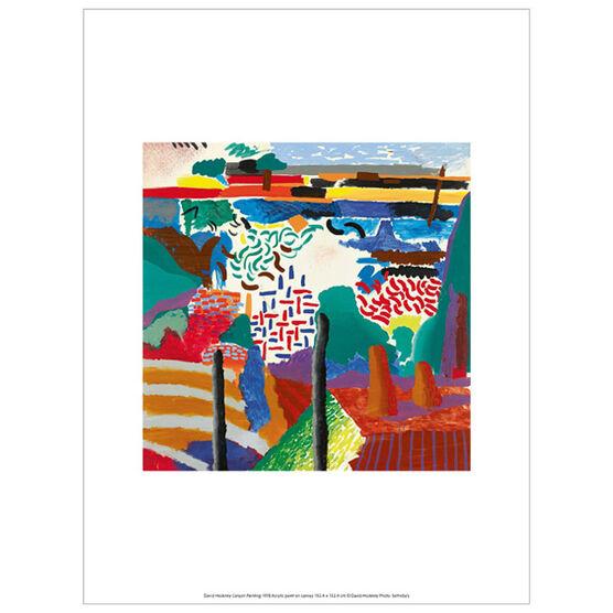 David Hockney Canyon Painting (exhibition print)