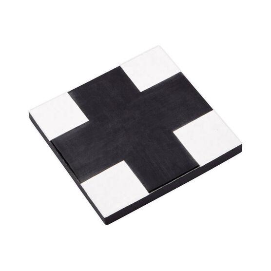 Cross ceramic trivet black