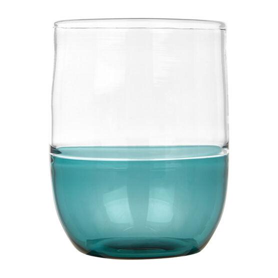 Glass tumbler blue