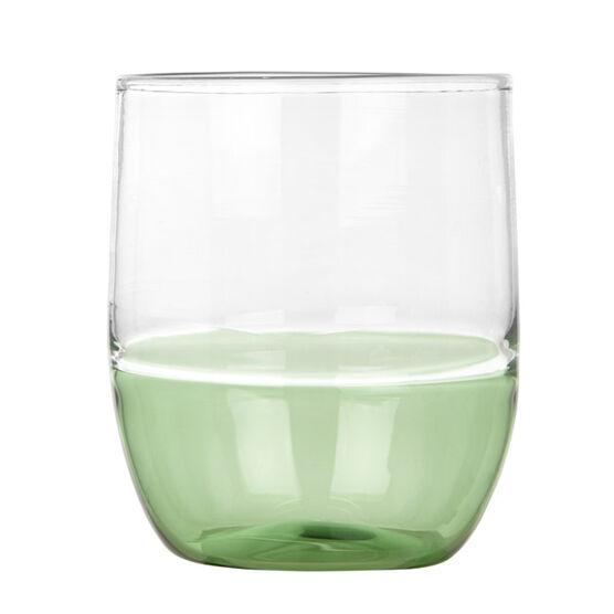 Glass tumbler green