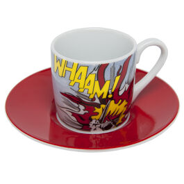 Whaam! coffee cup and saucer