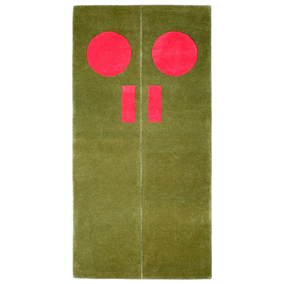Gary Hume Door rug - red, green