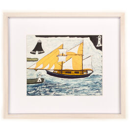 Alfred Wallis The Blue Ship (framed print)