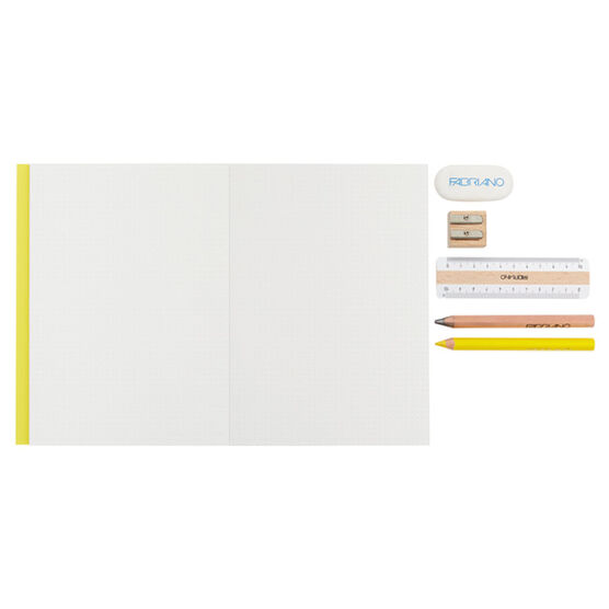 Yellow notebook and stationery set