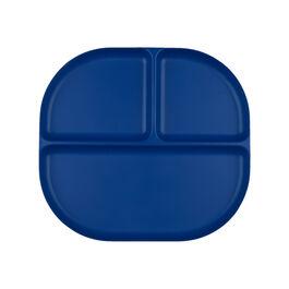 Divided bamboo plate - royal blue