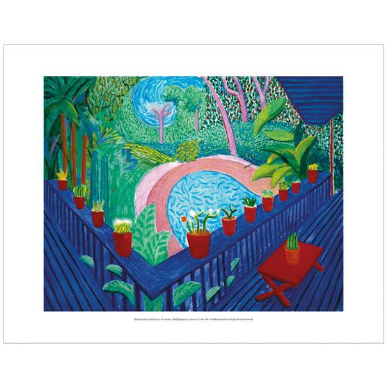 David Hockney Red Pots in the Garden  (mini print)