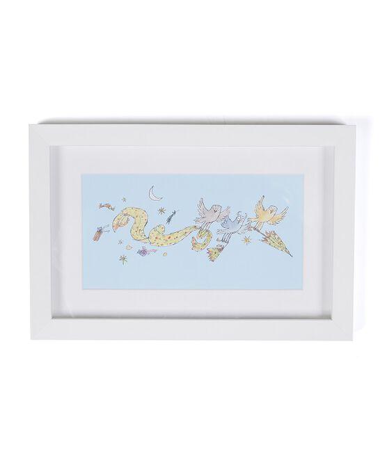 Three Little Owls Umbrellas Print (framed)