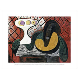 Pablo Picasso: Still Life with Fruit Bowl and Mandolin mini print