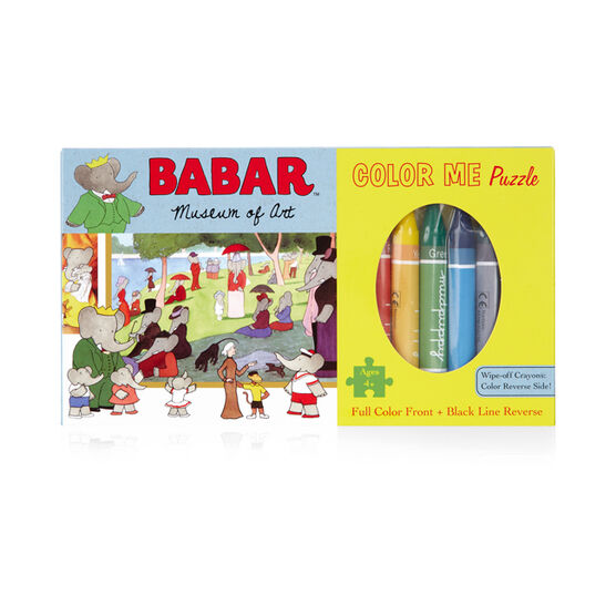 Babar Museum of Art Colour Me Puzzle