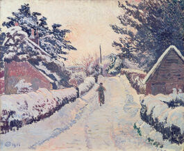 Lucien Pissarro: Ivy Cottage, Coldharbour: Sun and Snow