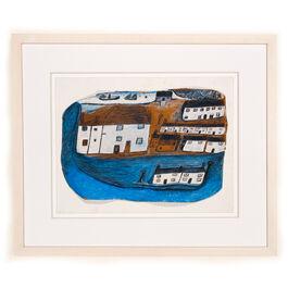 Alfred Wallis St Ives (framed print)