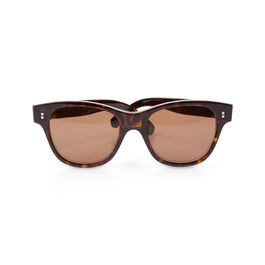 Margaret Howell tortoiseshell sunglasses and leather case