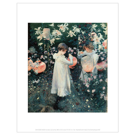 Sargent Carnation, Lily, Lily, Rose (mini print)