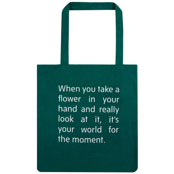 Green O'Keeffe Quote Tote