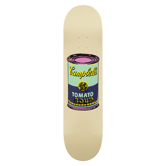 Warhol: Campbell`s Soup skateboard - eggplant