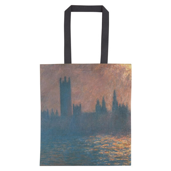 Monet Houses of Parliament  tote bag