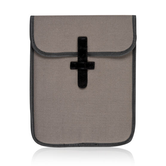 Grey/Orange Ally Capellino tablet sleeve