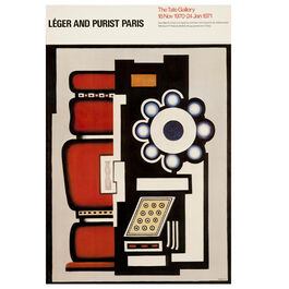 Fernand Léger: Léger and Purist Paris 1970 vintage poster