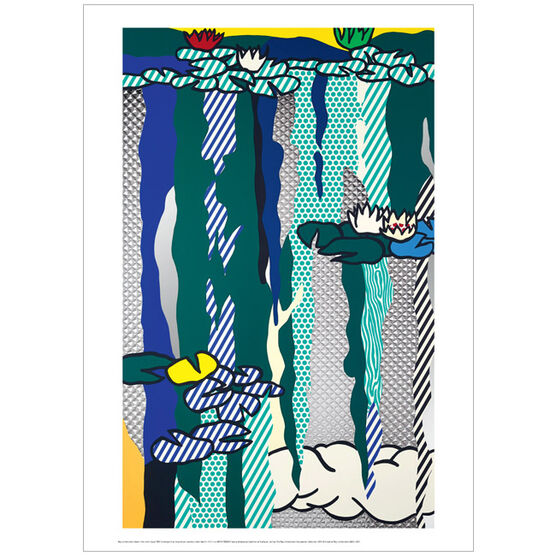 Roy Lichtenstein Water Lilies with Cloud (poster)