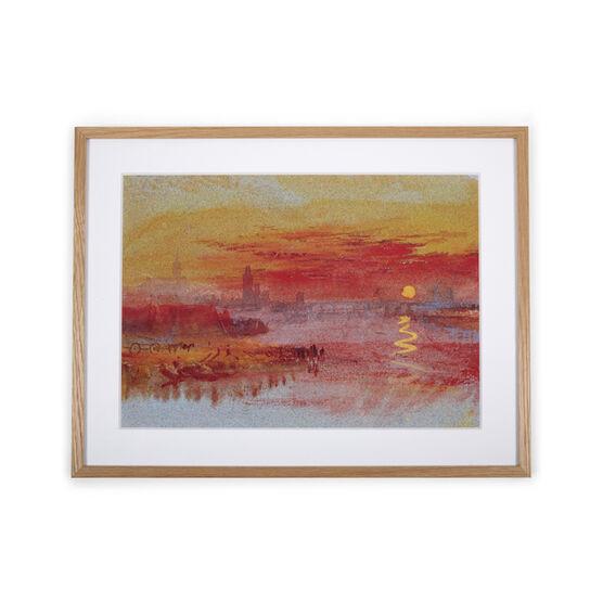 JMW Turner Scarlet, Sunset (framed print)