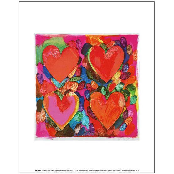 Jim Dine Four Hearts (unframed print)