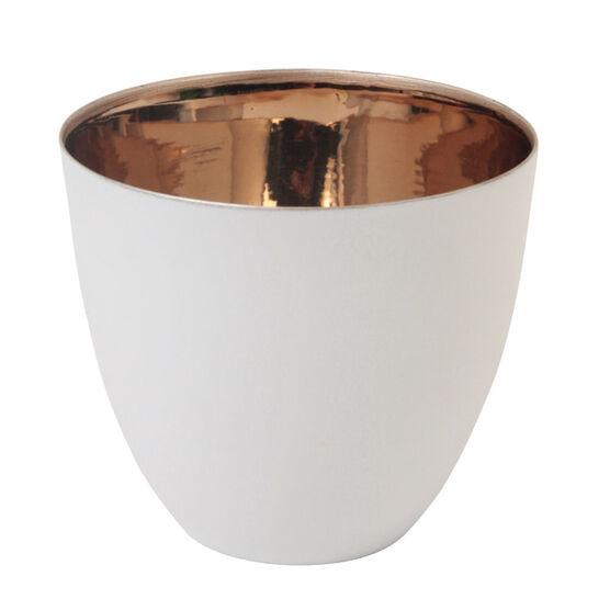 White and gold tea light
