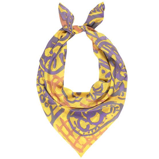 Patrick Heron silk scarf - yellow
