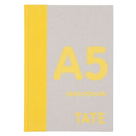 A5 yellow hardback portrait sketchbook