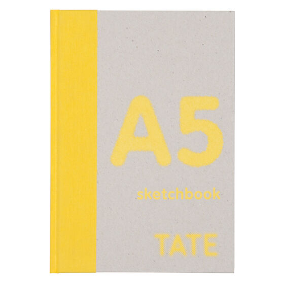 A5 yellow hardback portrait sketchbook