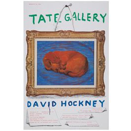David Hockney Dachshund (Tate vintage poster reproduction)