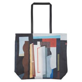 Piper Abstract I leather strap tote bag