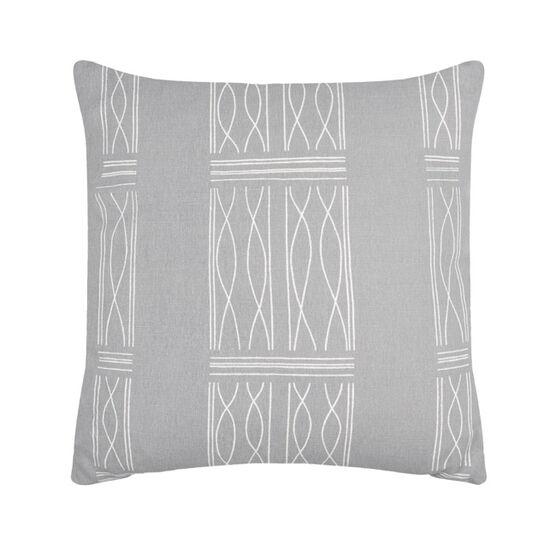 Paule Vézelay grey linen blend cushion