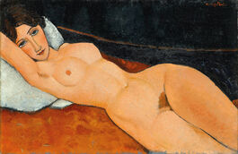 Modigliani: Reclining Nude on a White Cushion