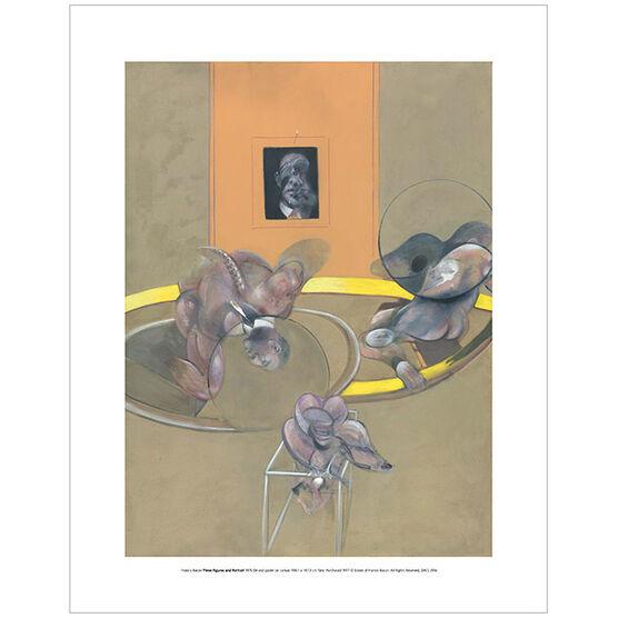 Francis Bacon: Three Figures and Portrait 1975 (mini print)