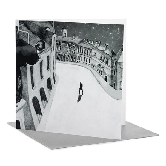 """Tate RCA Christmas card Mirry Stolzenberg - ''Where Has Everybody Gone?"""" Thought Sid (Pack of 6)"""