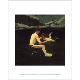 Michael Andrews: Melanie and Me Swimming mini print