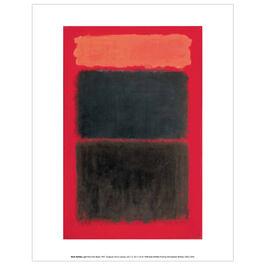 Mark Rothko Light Red Over Black (mini print)