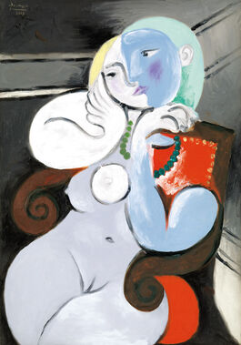 Pablo Picasso: Nude Woman in a Red Armchair