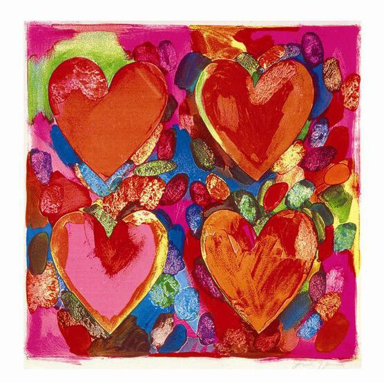 Jim Dine Four Hearts - greetings card