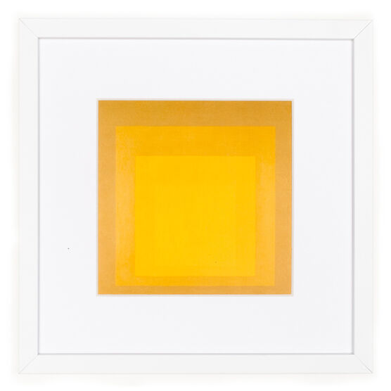 Albers Homage to the Square: Yellow - framed print
