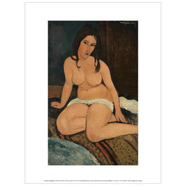 Modigliani Seated Nude (exhibition print)