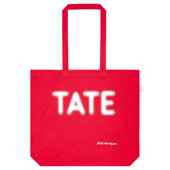 Large Red Tate bag for life