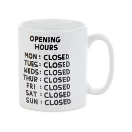 David Shrigley Opening Hours mug