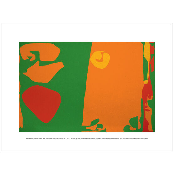 Patrick Heron: Complex Greens, Reds and Orange : July 1976-January 1977 exhibition print