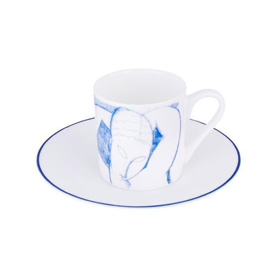 Modiglaini Caryatid espresso cup and saucer