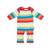 Multi-stripe baby sleep suit
