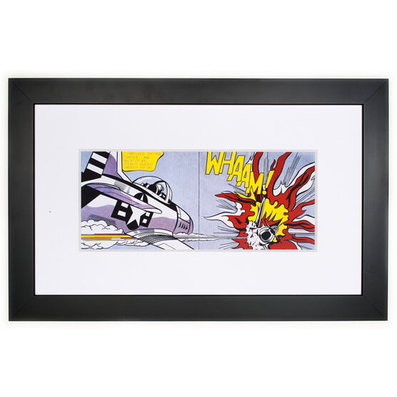 Lichtenstein Whaam! (framed print)