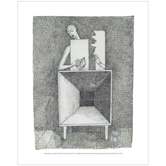 Alberto Giacometti Surrealist Compositionc (mini print)