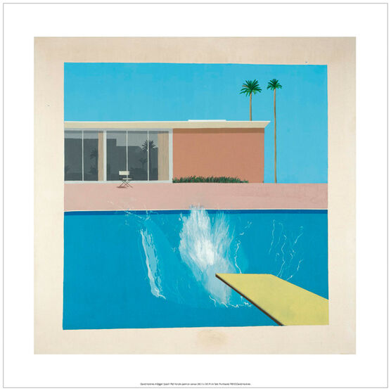 David Hockney A Bigger Splash (poster)
