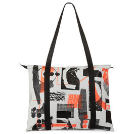 Laura Slater neon leather tote bag
